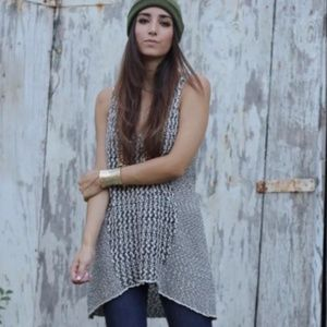 CAbi Tape Yarn Knit Tunic Black & White